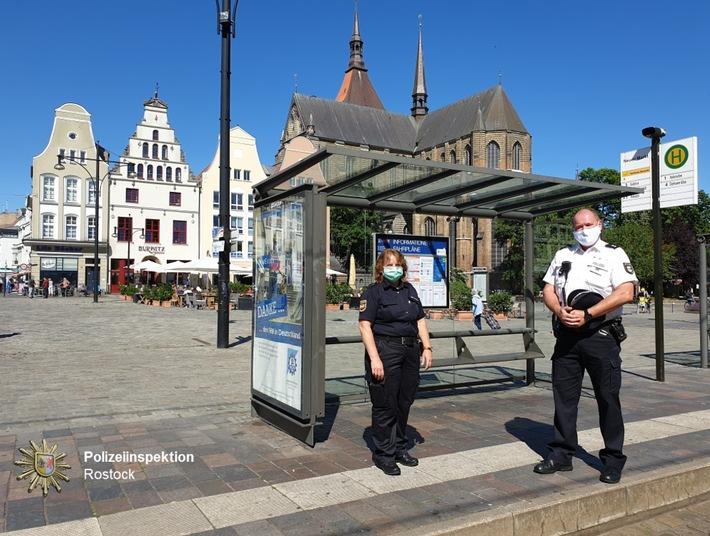 POL-HRO: Maskenpflicht im Öffentlichen Personenverkehr – Gemeinsame Kontrollen der Polizei und des Allgemeinen Ordnungsdienstes