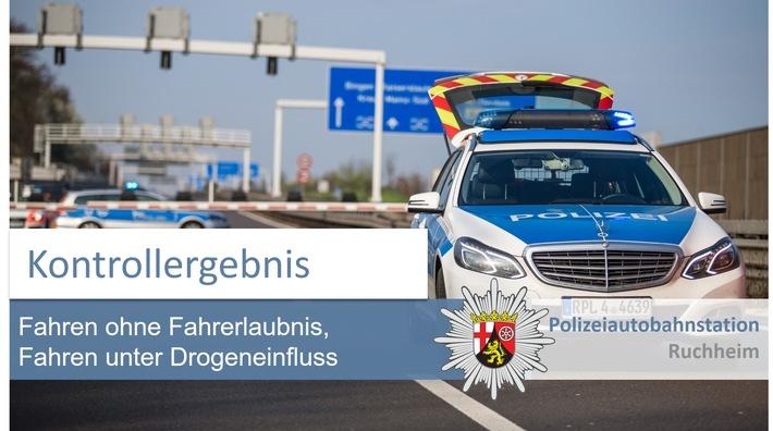POL-PDNW: Polizeiautobahnstation Ruchheim Ergebnis mobiler Kontrollen in Dienstgebiet