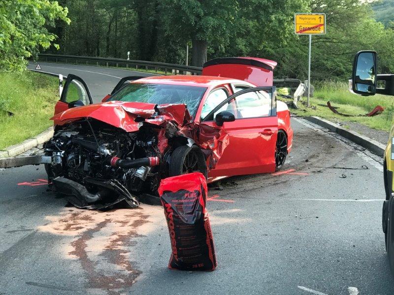 Harz – Halberstadt, den 7. Juni 2020:  L243 tödlicher Verkehrsunfall im LK Harz