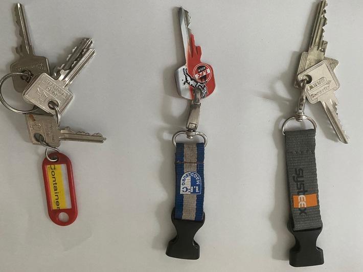 POL-FL: Nach Einschleichdiebstählen bei Tatverdächtigem Schlüssel aufgefunden – Wer erkennt seinen Schlüsselbund wieder?