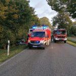 Rendsburg-Eckernförde  FW-RD: Verkehrsunfall B77, Höhe Jahrsdorf (Kreis Rendsburg-Eckernförde)