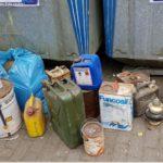 POL-SE: Wedel - Umweltsünder entsorgen Eimer mit Altöl und Farblacke - Polizei sucht Zeugen