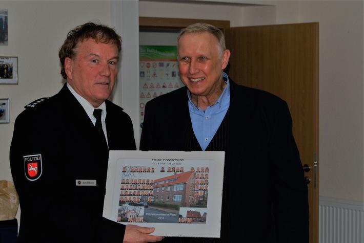 Wilhelmshaven / Friesland: Heiko Freesemann wurde nach über vier Jahrzehnten Dienst bei der Landespolizei in den Ruhestand verabschiedet (mit Bild)