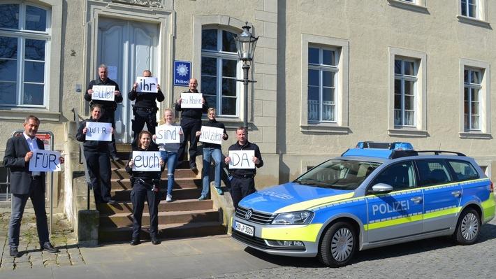 POL-WOB: Polizei Schöningen unterstützt Aktion #ZuhauseBleiben